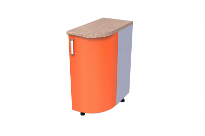 Кухонный стол КС - 01 (радиусный, закрытый, левый)