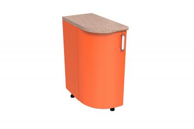 Кухонный стол КС - 02 (радиусный, закрытый, блок MDF, правый)
