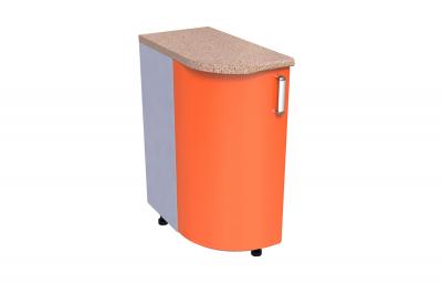 Кухонный стол КС - 02 (радиусный, закрытый, правый)