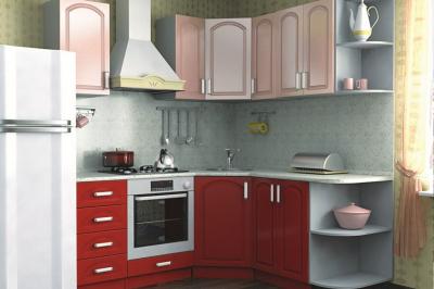 Кухня 15 (рубин, розовый металлик)